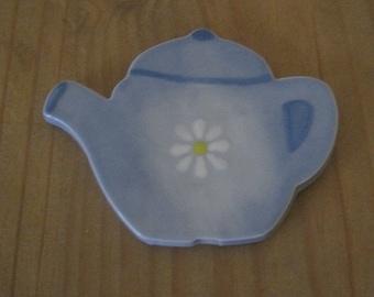 Daisy Homemade Ceramic Teapot Fridge Magnet