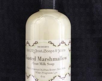 Goat Milk Liquid soap Toasted Marshmallow scent 8 oz