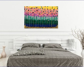 24x36 Forest Abstract Canvas Art