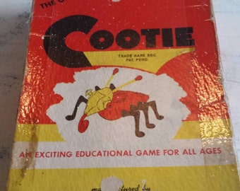 1949 Cootie Game.    Complete Vintage Game