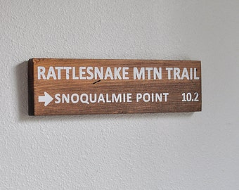 Custom Trail Sign, Wood Trail Sign, Mountain Sign, Personalized Trail Sign, Rustic Sign