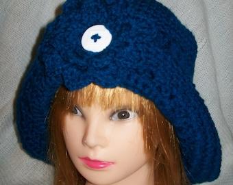 Hand Crochet Cloche Hat