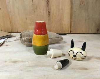 Kitty Wooden Stacking toy, Organic Toy