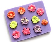 3D Flower Cake Fondant Silicone Mold