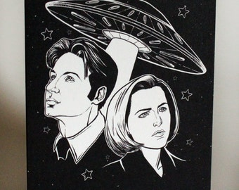X-Files Mulder and Scully Greeting Card