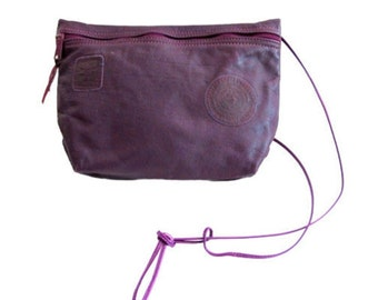 Vintage 80's Carlos Falchi Plum Leather Shoulder Bag Purse