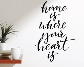 Home Is Where The Heart Is Wall Decal Sticker VC0155