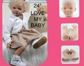 "Reborn baby kit 24"" soft vinyl  baby kit soft vinyl doll head arms and legs. Make your own from this kit free shipping"