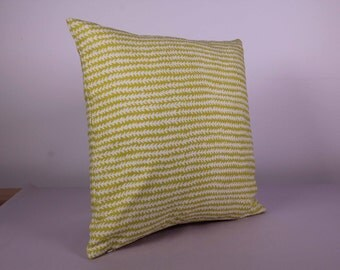 Outdoor Cushion Cover - Yellow Corn Row  (40cm x 40cm)