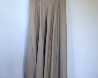 1980s tan linen maxi skirt by Harve Benard