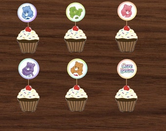 SALE!!!! Care Bears Cupcake Toppers