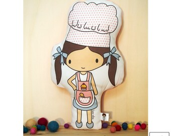 Cook / doll / cushion / chef / bakery / soft toy / toy cushion / pillow toy / stuffed toy