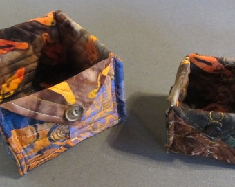 Quilted Batik Boxes (Set of 2)