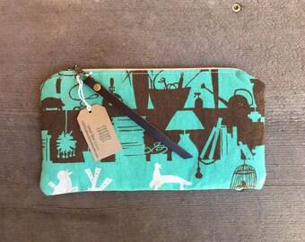 ON SALE! Waxed Canvas Clutch Wallet