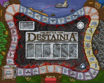 The Battle for Destainia Board Game