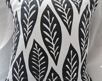 Black & White 12x12 Throw Pillow Slip Cover