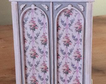 1:24 scale miniature dollhouse furniture kit Carmel armoire