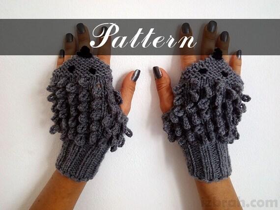 PATTERN Hedgehog gloves Instant download PDF Knitted gloves Fingerless gloves...