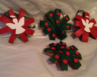 2 sided paper ornaments