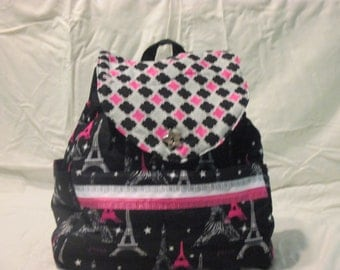 Quilted Paris Backpack/Purse