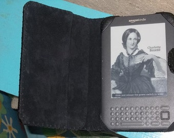 Genuine leather case for KINDLE 3