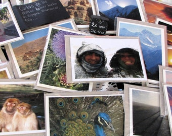 Handmade greetings cards,from photos of our travels.