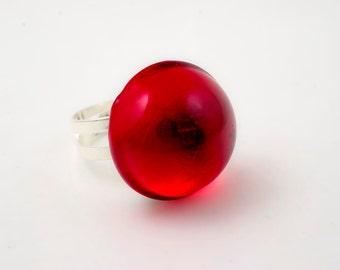 RESIN RING RED #0106