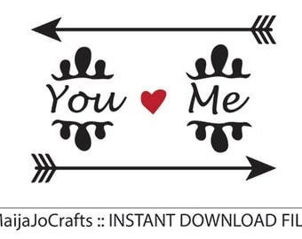 Love SVG DXF Cricut downloads Silhouette files Cricut designs Arrow Svg Silhouette downloads wedding svg Bridal svg valentines day svg