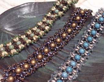 Dancing Diamonds Bracelet Tutorial Pattern