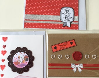 Greeting cards set love