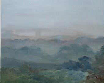 Maine Fog - Original Oil Painting