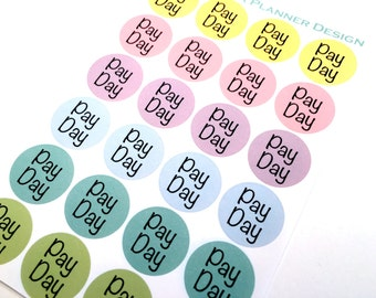 Planner Stickers Pastel Pay Day Circles