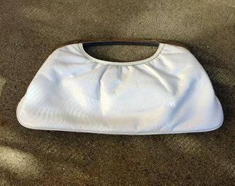 Vintage White Express Design Studio Handbag Clutch