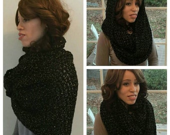 Over sized cowl wrap