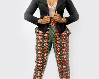 african skinny fit pants