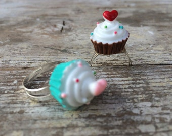 Cupcake Ring, Ring For Girls,  Cute Gift For Girls, Birthday Present
