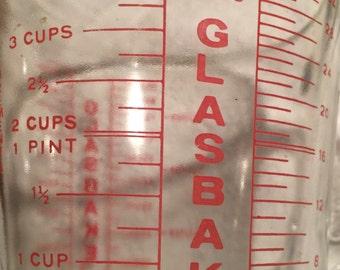 Glasbake 1 Quart measuring cup