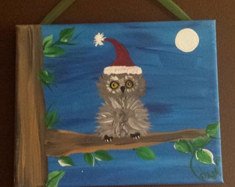Christmas Owl canvas