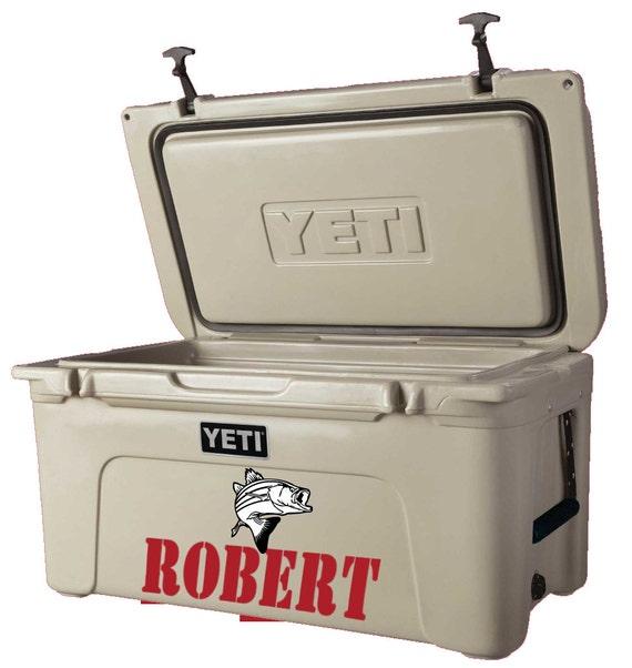 Yeti cooler decal yeti cooler sticker yeti fish by decordecal for Fishing yeti decal