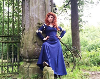 Disney Princess Merida Dress Brave Cosplay adult