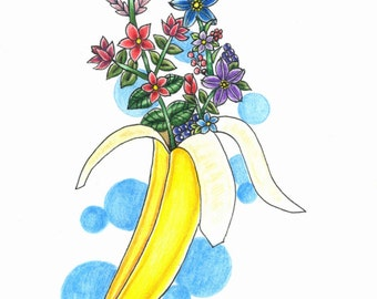 Banana Flower Print