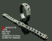 Men's Chain Bracelets Gothic Style silver 925 Ordering Code (BRMS 100-1S)