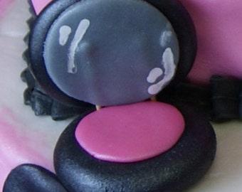 Edible fondant make up cake topper set
