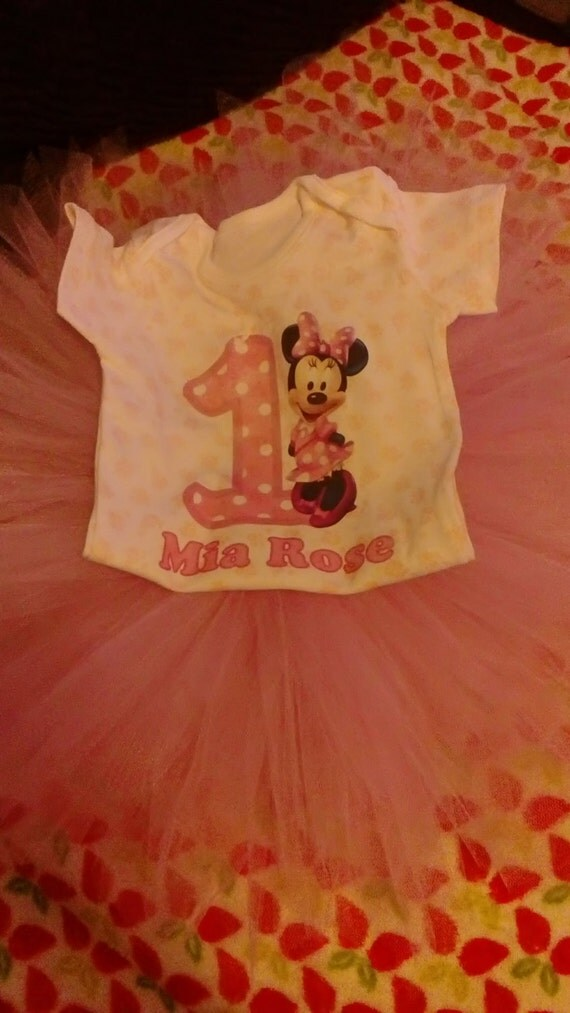 1St Birthday tutu set, tutu skirt and vest, any colour skirt.