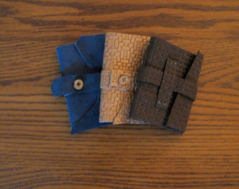 Pocket Size Leather Journals with Button or Strap Closure