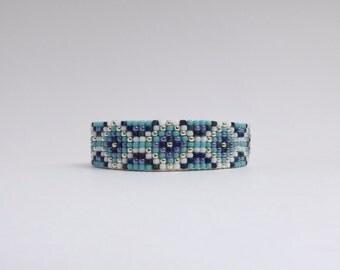 Beaded Leather Adjustable Cuff Bracelet - Istas