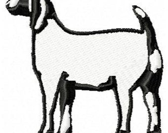 Goat Machine Embroidery Desing