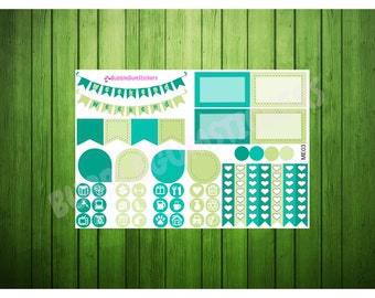 ME03 March Week Set (49 Planner Stickers)