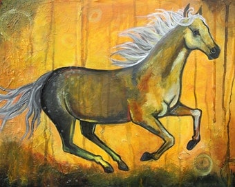 Authum horse