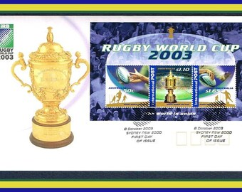 Rugby World Cup 2003 - FDC - First Day of Issue Cover